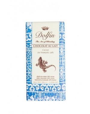 Chocolat au lait 38% Cacao du Vanatu - Carnet de voyage - Dolfin