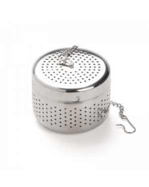Boule à thé cylindrique inox chrome - Dammann frères