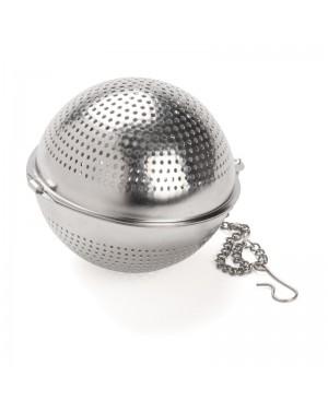 Boule à thé ronde inox perforée - Dammann frères