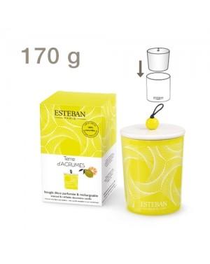 Bougie déco parfumée et rechargeable Terre d'agrumes - Esteban
