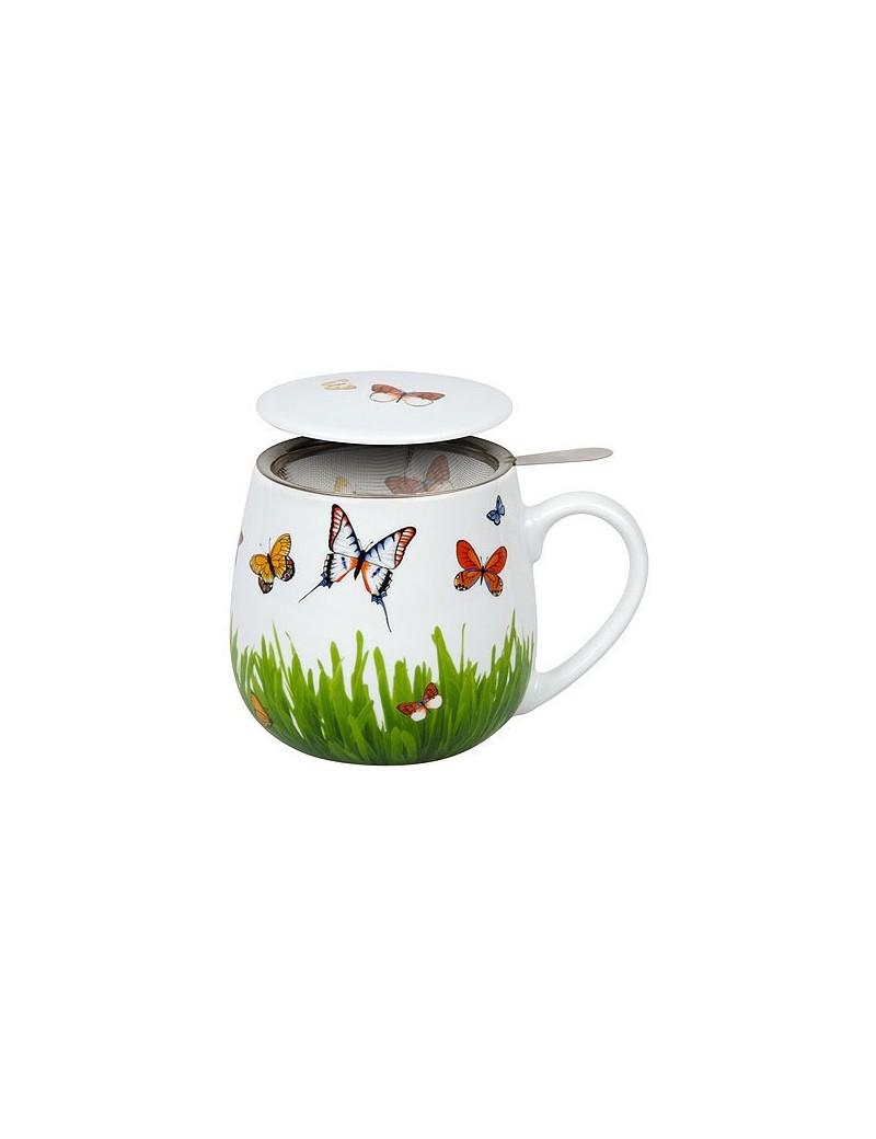 Mug Snuggle avec filtre et couvercle Papillon - Konitz