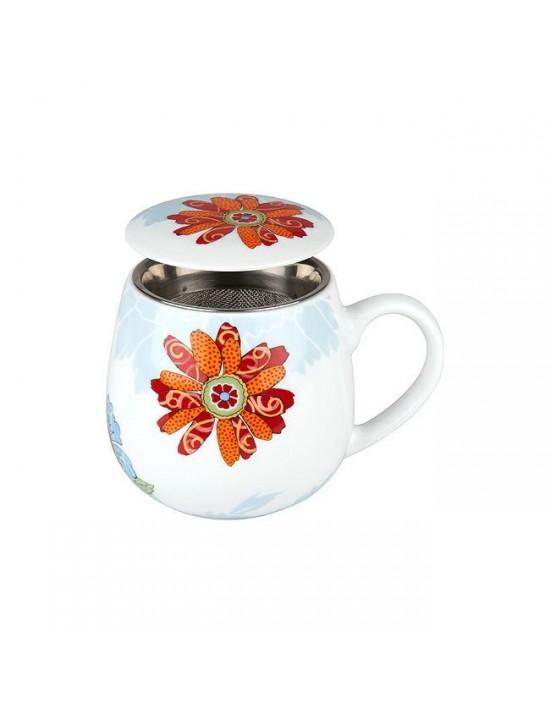 Mug Snuggle avec filtre et couvercle Fleur de cerisier - Konitz