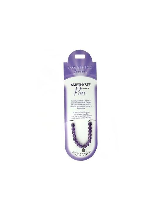 Bracelet perles Améthyste (pierre de la paix)