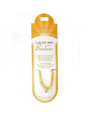 Bracelet perles Calcite miel (pierre du bonheur)