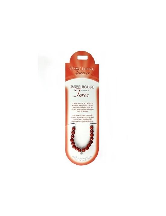 Bracelet perles Jaspe rouge (pierre de la force)
