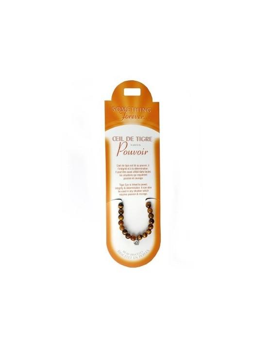 Bracelet perles Oeil du tigre (pierre du pouvoir)