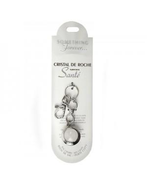 CRISTAL DE ROCHE PORTE-CLEFS (pierre de la santé)