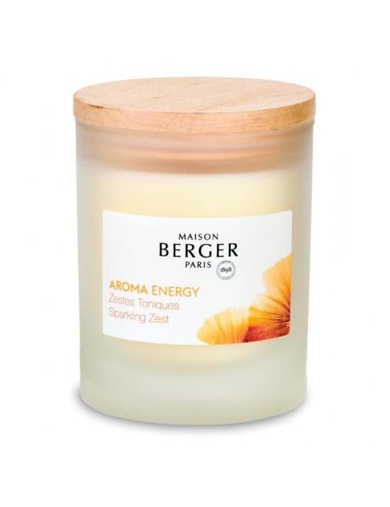 Bougie parfumée Aroma Energy Zestes Toniques - Maison Berger