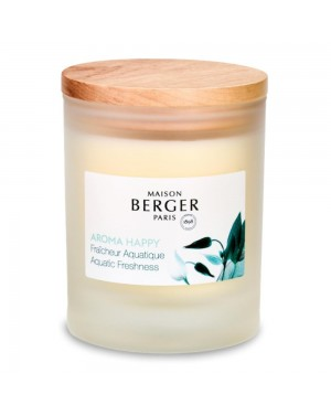 Bougie parfumée Aroma Happy Fraîcheur aquatique - Maiosn Berger