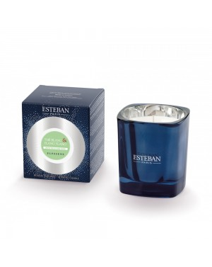 Bougie parfumée rechargeable Thé blanc  et  Ylang Ylang - Esteban