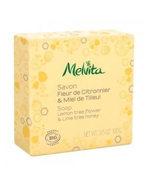 Savon fleur de citronnier  et  mile de tilleul bio - Melvita