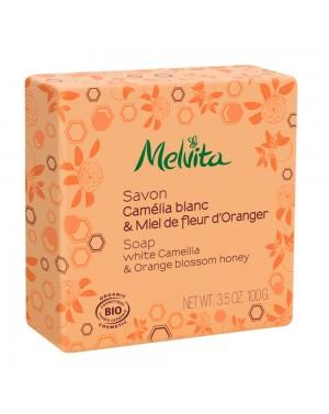 Savon camélia blanc  et  miel de fleur d'oranger bio - Melvita