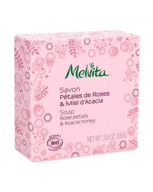 Savon pétales de rose  et  miel acacia - Melvita