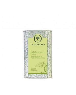 Huile d'Olive Citron Vert Frais Pressé 500 ml - Olivier  et  co