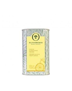 Huile d'Olive Citron Frais Pressé 500 ml - Olivier  et  co