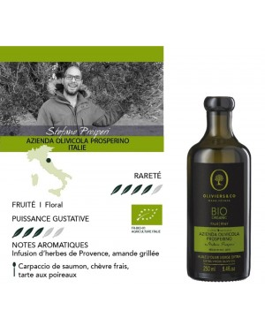 Huile d'Olive Prosperino Bio 250 ml 100 pourcent Italie - Oliviers  et  co