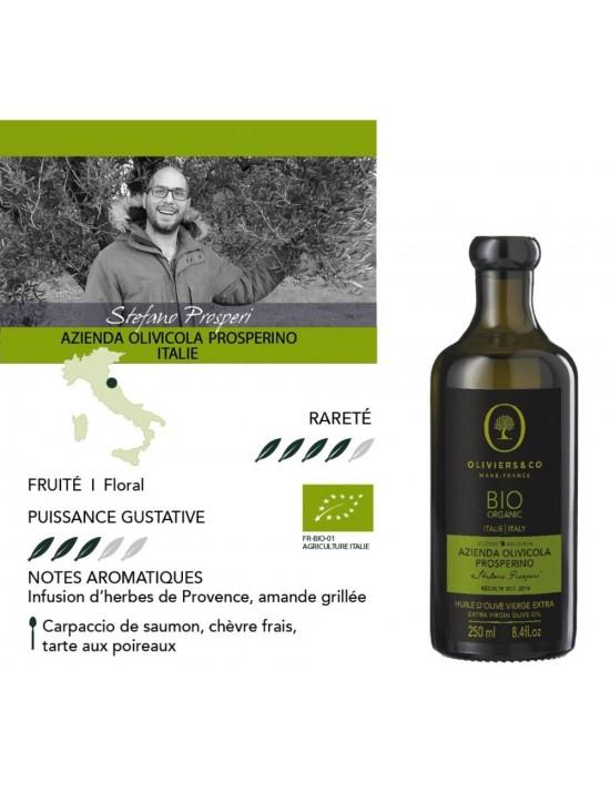 Huile d'Olive Prosperino Bio 250 ml 100 % Italie - Oliviers  et  co