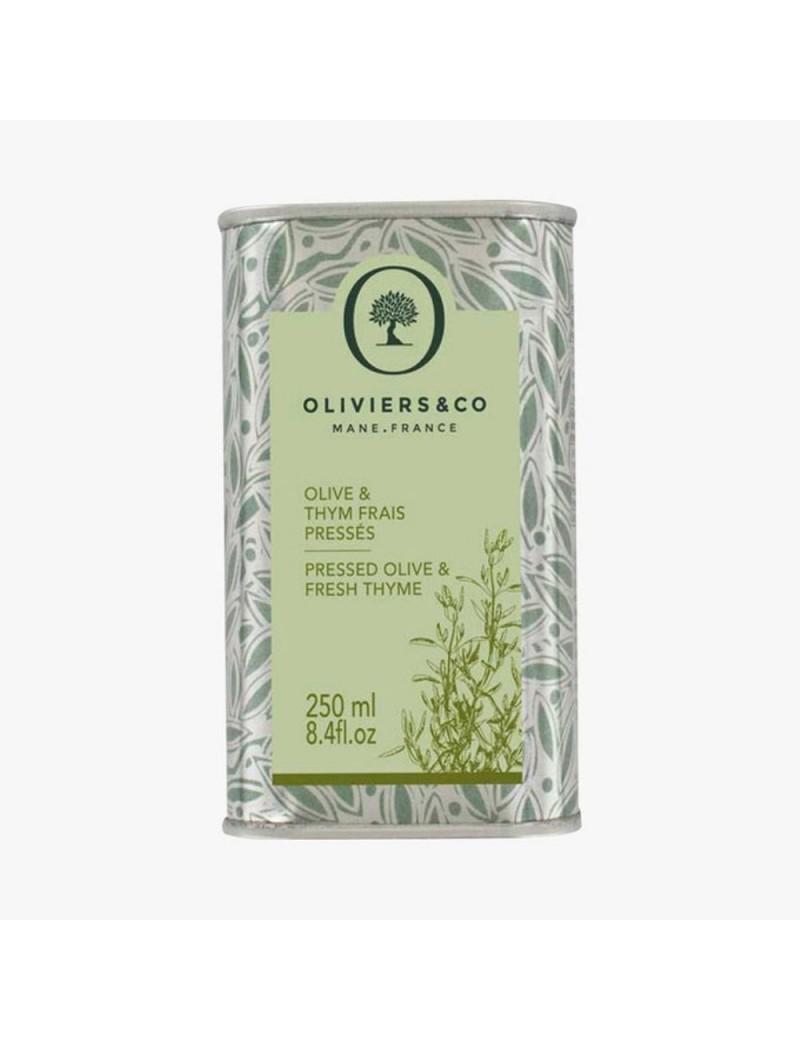 Huile d'olive Thym frais pressé 250ml - Oliviers  et  co