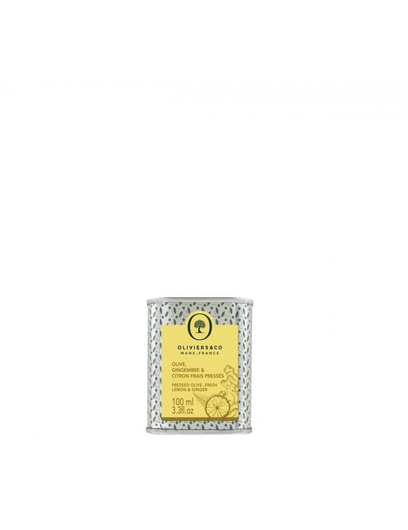 Huile d'olive Gingembre  et  Ciron frais pressés 100ml - Oliviers  et  co
