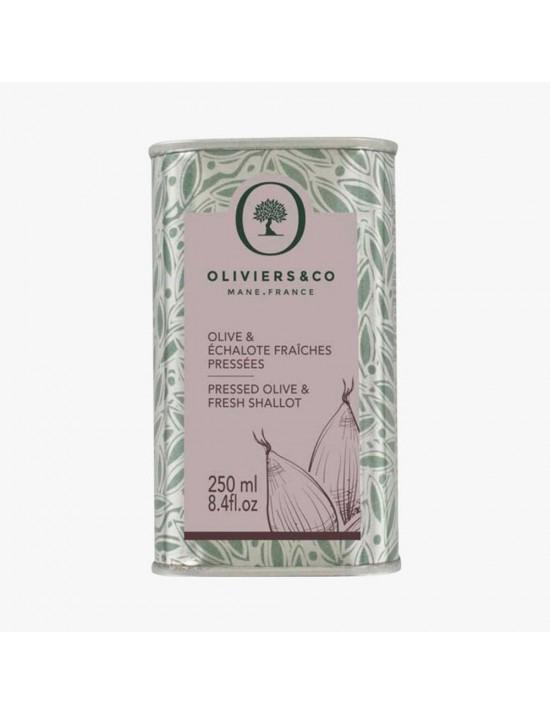 Huile d'olive Echalottes fraiches pressées 250ml - Oliviers  et  co