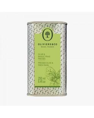 Huile d'olive Basilic frais pressé 250ml - Oliviers  et  co
