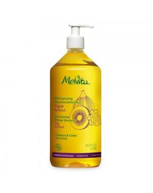 Shampooing douche extra doux - Figue  et  Kiwi - Melvita