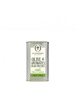 Huile d'olive  et  aromates frais pressé - Pates et salade - Oliviers  et  co