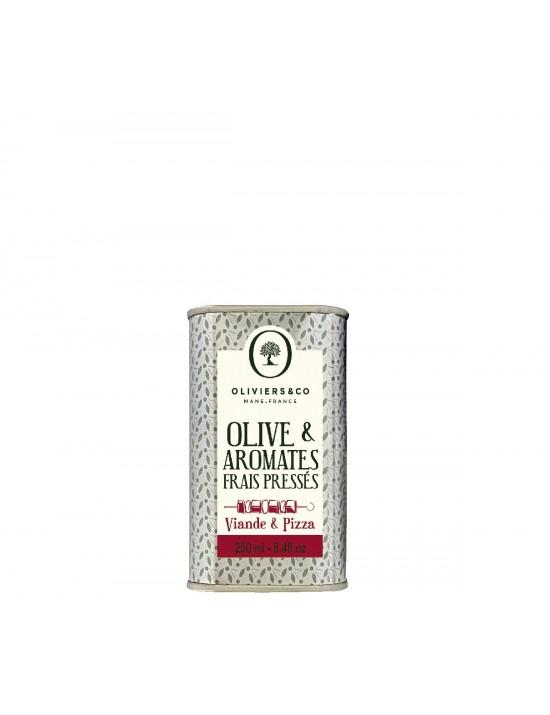 Huile d'olive  et  aromates frais pressés - Viande - Oliviers  et  co