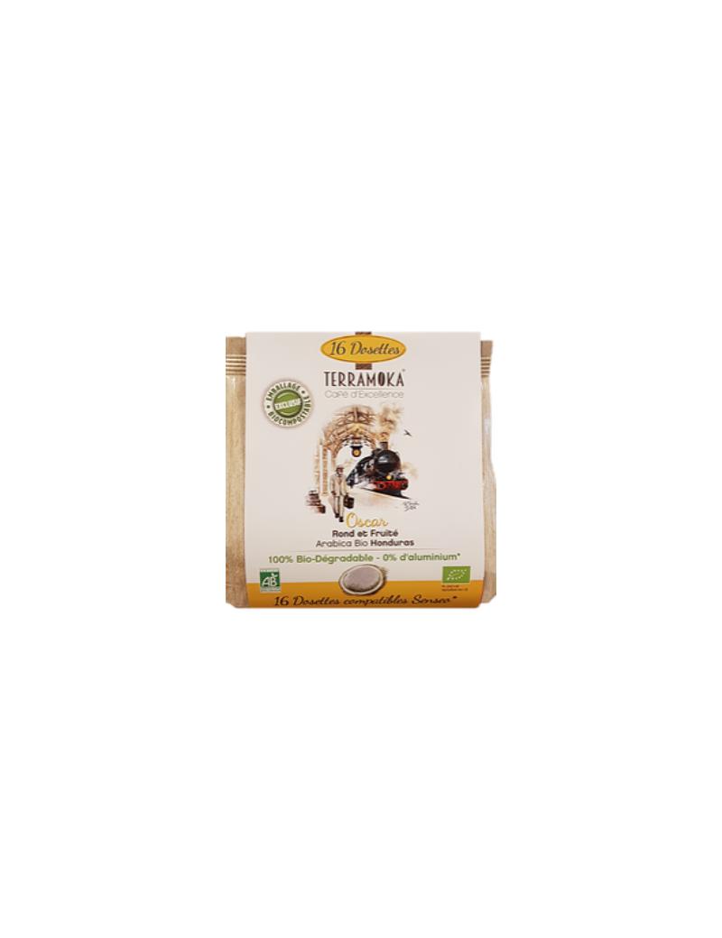 Café bio en dosettes 100% Arabica d'Ethiopie - Oscar - Terramoka