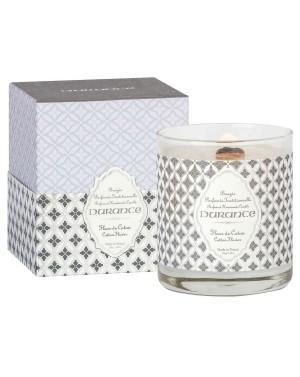 Bougie naturelle parfumée Fleur de coton 280g - Durance