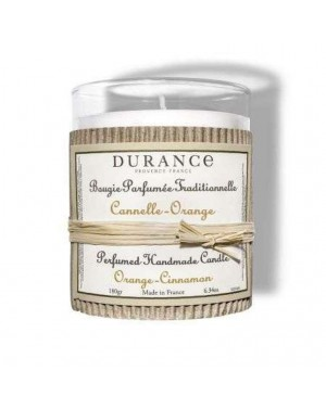Bougie naturele parfumée Cannelle-Orange 180g - Durance