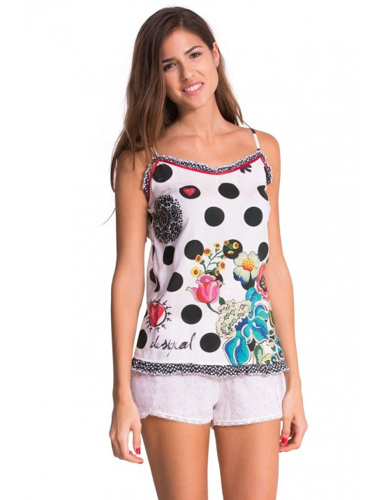 Tee-shirt straps Polka Dots Taille S-M - Desigual