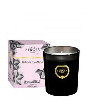 Bougie parfumée Black Crystal Délicat musc blanc - Maison Berger