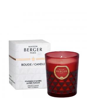 Bougie parfumée Clarity bordeaux Poussière d'ambre - Maison Berger
