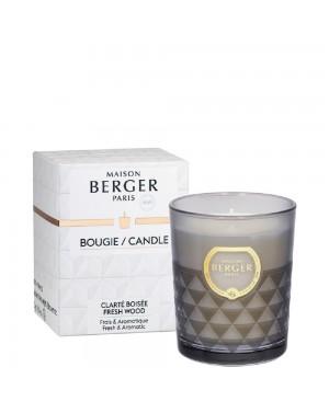 Bougie parfumée Clarity gris Clarté boisée - Maison Berger