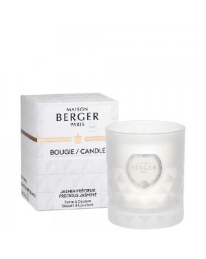 Bougie parfumée Clarity givrée Jasmin précieux - Maison Berger