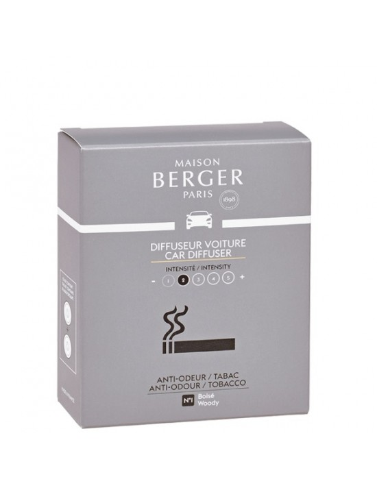 Recharge parfumée pour diffuseur voiture anti-odeurs Tabac n°1 - Maison Berger