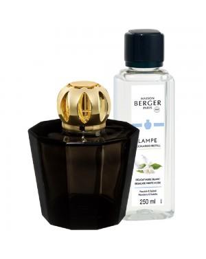 Coffret Lampe Berger Black Crystal + Délicat musc blanc - Maison Berger