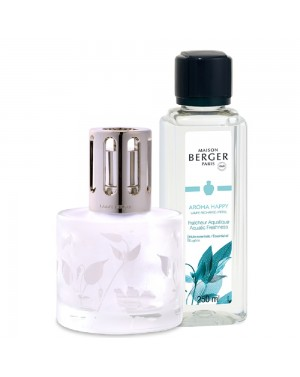 Coffret Lampe Berger Aroma + parfum Happy - Maison Berger