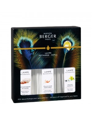 Trio pack recharge de parfum d'ambiance Etincelle - Maison Berger