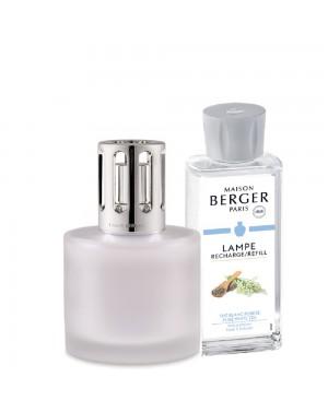 Coffret lampe Berger + parfum Pure givrée + Maison Berger